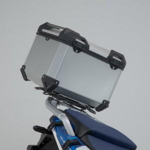 Σετ βάσης και βαλίτσας topcase SW-Motech TRAX ADV Honda CRF 1100L Africa Twin Adventure Sports ασημί