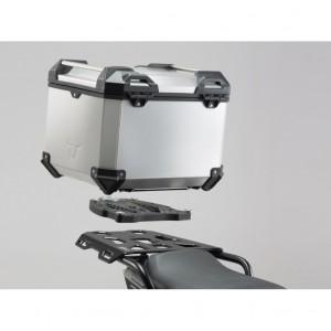 Σετ βάσης και βαλίτσας topcase SW-Motech TRAX ADV Yamaha MT-07 Tracer ασημί