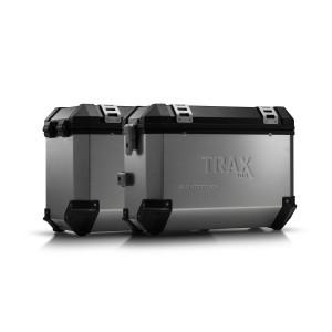 Σετ βάσεων και βαλιτσών SW-Motech TRAX ION Moto Guzzi V85 TT ασημί