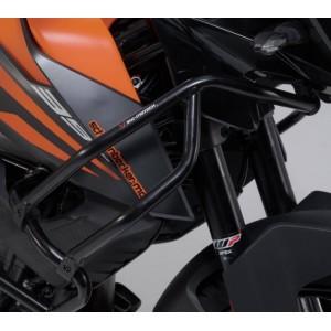 Άνω προστατευτικά κάγκελα SW-Motech για ΟΕΜ κάγκελα KTM 390 Adventure μαύρα