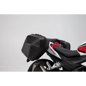 Σετ βάσεων και πλαϊνών βαλιτσών SW-Motech Urban ABS 33 lt. Honda CB 500 F 16- (σετ)