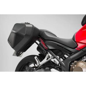 Σετ βάσεων και πλαϊνών βαλιτσών SW-Motech Urban ABS 33 lt. Honda CB 650 F (σετ)