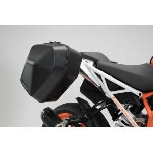 Σετ βάσεων και πλαϊνών βαλιτσών SW-Motech Urban ABS 33 lt. KTM 125-390 Duke 17- (σετ)