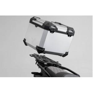 Σετ βάσης και βαλίτσας topcase SW-Motech TRAX ADV Moto Guzzi V85 TT ασημί