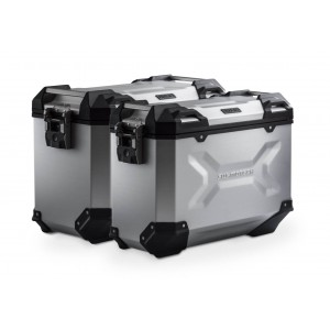 Σετ βάσεων και βαλιτσών SW-Motech TRAX ADV Moto Guzzi V85 TT ασημί