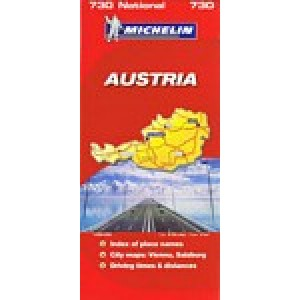 Χάρτης Αυστρίας Michelin road map