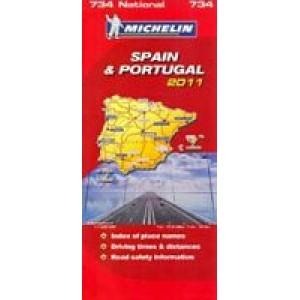 Χάρτης Ισπανίας-Πορτογαλίας Michelin road map