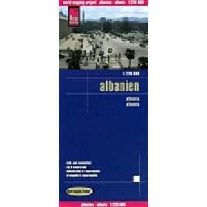 Χάρτης Αλβανίας Reise road map