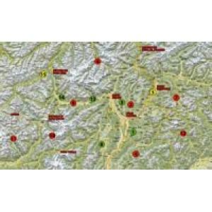 Αδιάβροχος χάρτης-οδηγός με περάσματα Ιταλίας Motoroute n.2