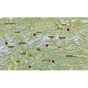 Αδιάβροχος χάρτης-οδηγός με περάσματα Ιταλίας Motoroute n.3