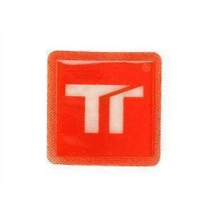 Ανακλαστικό αυτοκόλλητο Twalcom 45 x 45 mm που ράβεται κόκκινο-ασημί