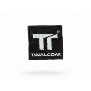 Ανακλαστικό αυτοκόλλητο Twalcom 45x45mm που ράβεται μαύρο-ασημί