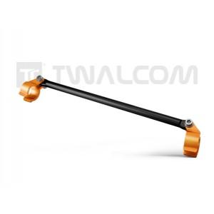 Μπαράκι τιμονιού Twalcom 28 εκ. μαύρο - πορτοκαλί