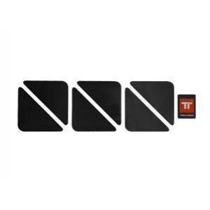 Ανακλαστικά αυτοκόλλητα Twalcom τρίγωνα μαύρα σετ