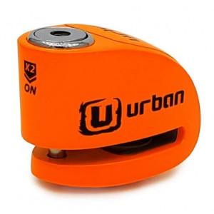 Κλειδαριά δισκόφρενου με συναγερμό Urban Security UR906N 6χιλ. fluo πορτοκαλί