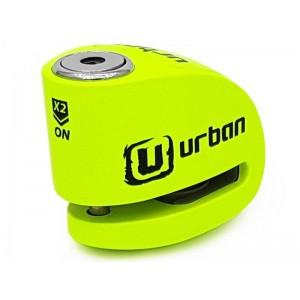 Κλειδαριά δισκόφρενου με συναγερμό Urban Security UR906X 6χιλ. fluo πράσινο