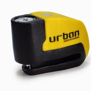 Κλειδαριά δισκόφρενου με συναγερμό Urban Security UR6 6χιλ. κίτρινη