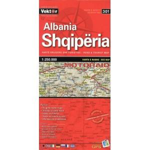Χάρτης Vektor Αλβανίας 1:250.000 μεγάλος