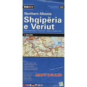 Χάρτης Vektor βόρειας Αλβανίας 1:200.000