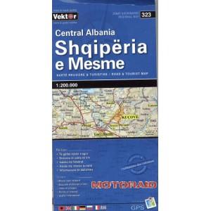 Χάρτης Vektor κεντρικής Αλβανίας 1:200.000