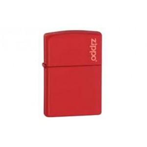 Αναπτήρας zippo κόκκινο ματ με λογότυπο zippo