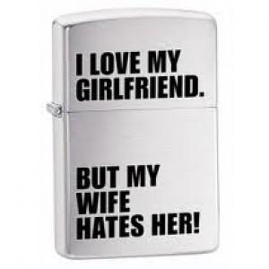 Αναπτήρας zippo girlfriend-wife
