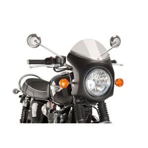 Ζελατίνα Puig Retro Triumph Bonneville T100 μαύρη-ελαφρώς φιμέ