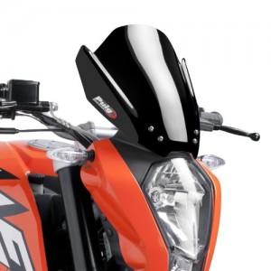Ζελατίνα Puig Naked New Generation Sport KTM 125-200-390 Duke -16 μαύρη