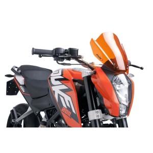 Ζελατίνα Puig Naked New Generation Sport KTM 125-200-390 Duke -16 πορτοκαλί