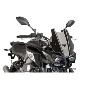 Ζελατίνα Puig Racing Yamaha MT-10 μαύρη