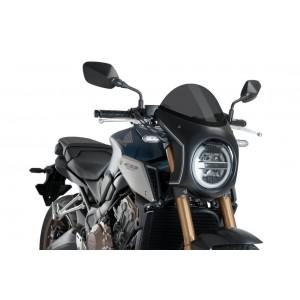 Ζελατίνα Puig Retro Semi Fairing Honda CB 650/1000 R Neo Sports Cafe σκούρο φιμέ