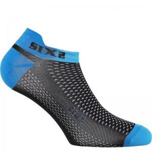 Καλτσάκια SIX2 carbon μπλε (λεπτά)