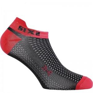 Καλτσάκια SIX2 carbon κόκκινα (λεπτά)
