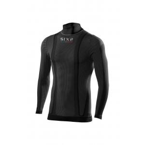Μακρυμάνικη ζιβάγκο μπλούζα SIXS από carbon