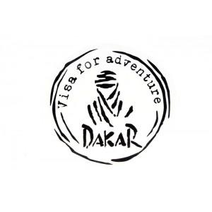 Αυτοκόλλητο Dakar-Visa for Adventure μαύρο γυαλιστερό