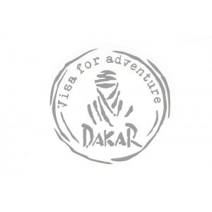 Αυτοκόλλητο Dakar-Visa for Adventure ασημί