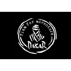Αυτοκόλλητο Dakar-Visa for Adventure λευκό