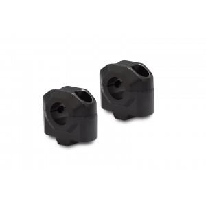 Αποστάτες SW-Motech 25mm για τιμόνια Ø22mm μαύρο