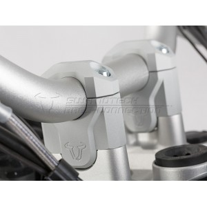 Αποστάτες τιμονιού 40 χιλ. SW-Motech BMW R 1200 GS/Adv. LC 13- ασημί