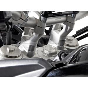 Αποστάτες τιμονιού SW-Motech 20 χιλ. Triumph Tiger 800/XC/XR ασημί