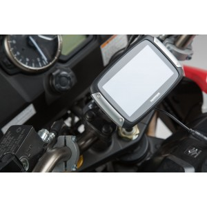 Βάση GPS SW-Motech Quick-Lock στην τιμονόπλακα Suzuki DL 650 V-Strom 17-