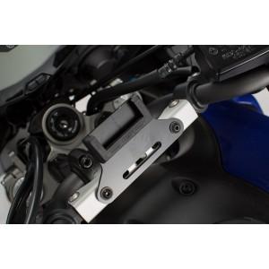 Βάση GPS SW-Motech Quick-Lock στο εργοστασιακό μπαράκι Yamaha MT-07 Tracer