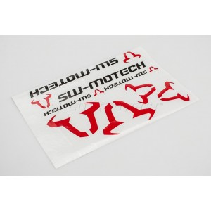 SW-Motech sticker set black-red