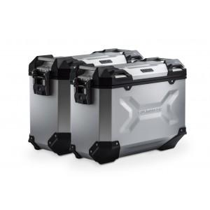 Σετ βάσεων και βαλιτσών SW-Motech TRAX ADV 37 lt. Yamaha MT-09 Tracer ασημί