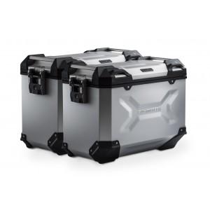 Σετ βάσεων και βαλιτσών SW-Motech TRAX ADV 45 lt. Yamaha MT-09 Tracer ασημί