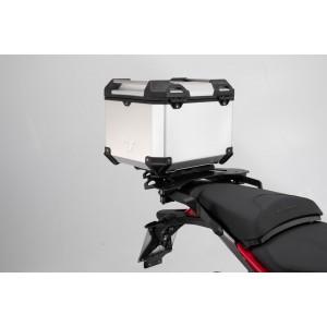 Σετ βάσης και βαλίτσας topcase SW-Motech TRAX ADV Ducati Multistrada 950-1200 Enduro ασημί
