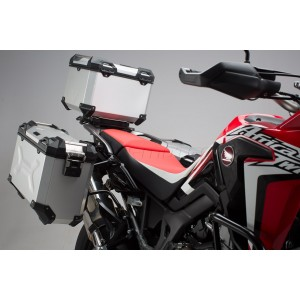 TRAX ADV Pannier System Honda CRF 1000L Africa Twin silver