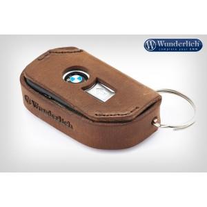 Δερμάτινη θήκη κλειδιού Wunderlich για μοντέλα BMW Keyless Ride καφέ