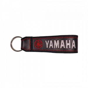 Μπρελόκ δερματίνη με λογότυπο Yamaha μαύρο - λευκό - κόκκινο
